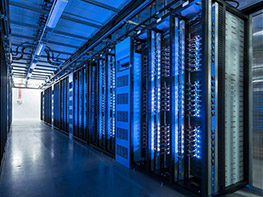 Facebook's data center in Luleå, northern Sweden